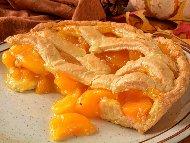Рецепта Домашен пай с праскови (с маслено тесто)